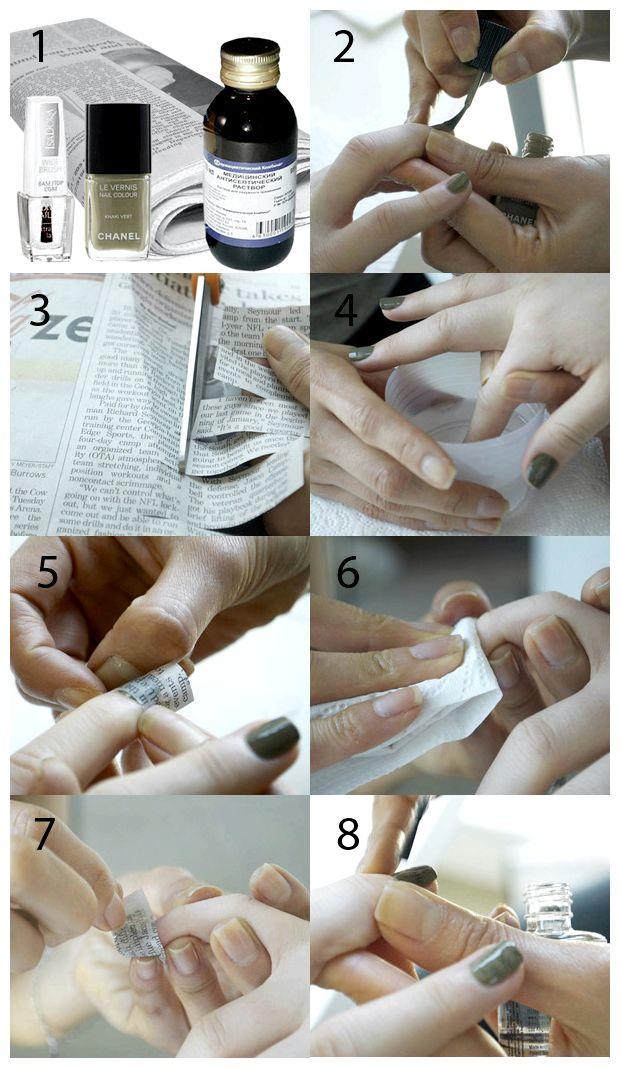 Маникюр из бумаги простой