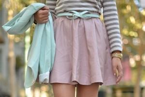 как красиво завязать пояс +на платье