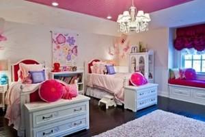 дизайн детской комнаты +для двоих девочек