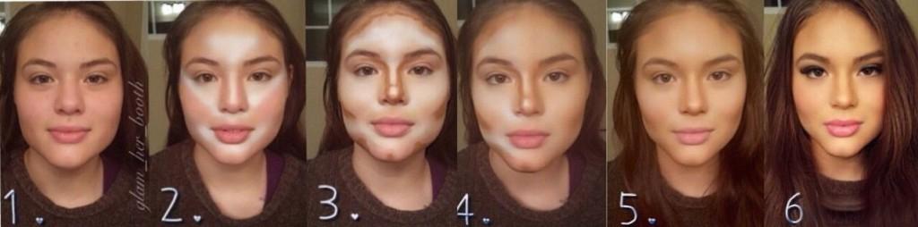 Визуально скрыть недостатки лица с помощью макияжа