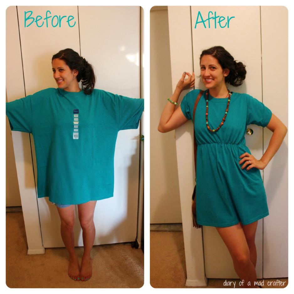 Как просто сделать платье из рубашки