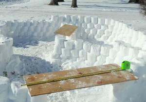 как сделать крепость +из снега