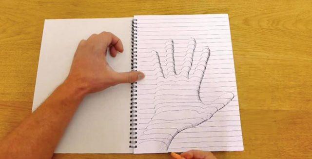 как нарисовать 3 д рисунок