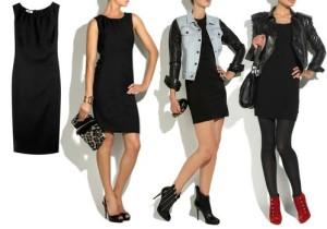 с +чем носить черное платье